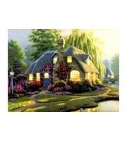 Вышивка крестом. 40*50см. Уютный домик в лесу XA2050  (полн. зап. канва с рис. )