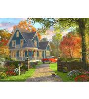 Набор для росписи по номерам. Красивый особняк в лесу  (холст 22*30см, краски, кисти)