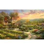 Холст 40*50см Красивый дом с ухоженным садом д/росп. п/номерам