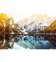 Холст 40*50см Озеро у заснеженных гор. Х-3678 д/росп. п/номерам
