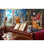 Холст 40*50см Котята на рояле. д/росп. п/номерам